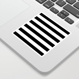 Stripe Black & White Horizontal Sticker