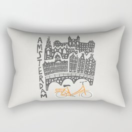 Amsterdam Cityscape Rectangular Pillow