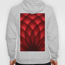 RED FLOWER PETALS Abstract Art Hoody