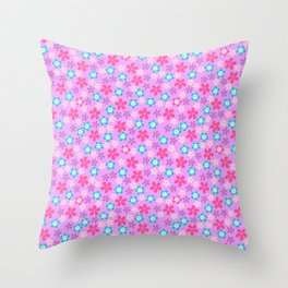 Pretty Flowers pink Throw Pillow