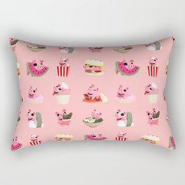 Rosa food collage pink Rectangular Pillow