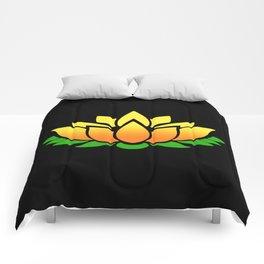 Yellow Lotus Comforters