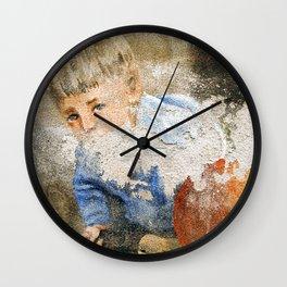 Murales in Flussio on the Isle of Sardinia Wall Clock