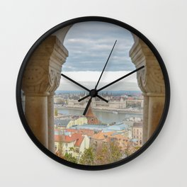 Fisherman's Bastion Budapest Hungary view Wall Clock