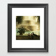 What would you do if you had only one life? Framed Art Print
