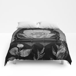 We come in peace No. 2 BW Comforters