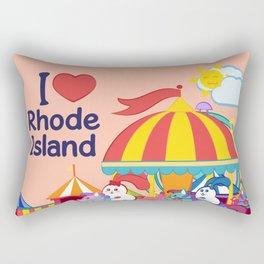 Ernest and Coraline | I love Rhode Island Rectangular Pillow