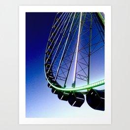 Twilight Ferris Wheel Art Print