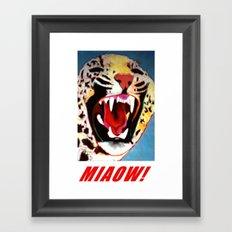 Big Cat Miaow! #2 Framed Art Print