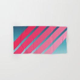 Pink Stripes on Blue Gradient Hand & Bath Towel