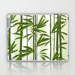 Green bamboo tree shoots pattern Laptop & iPad Skin