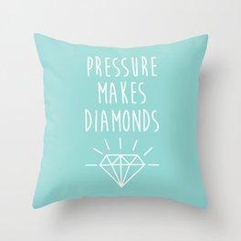 Pressure Makes Diamonds Motivational Quote Throw Pillow