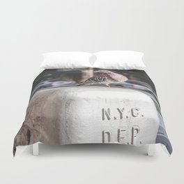NYC Pigeon Duvet Cover