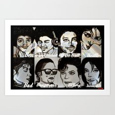MJ Eras Art Print