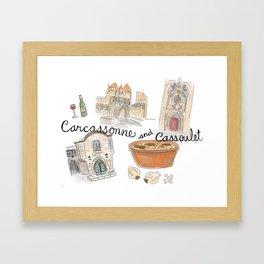 Cassoulet in Carcassonne, France Framed Art Print