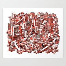 City Machine Art Print
