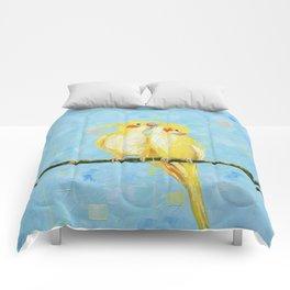 Cockatiels. Birds Comforters