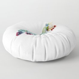 Peacock Mantis Shrimp Floor Pillow