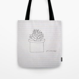 French Class Succulent  Tote Bag