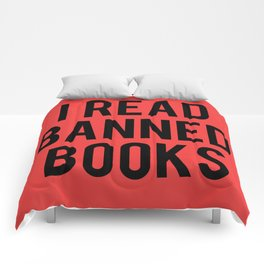 I Read Banned Books - Red B/G Comforters