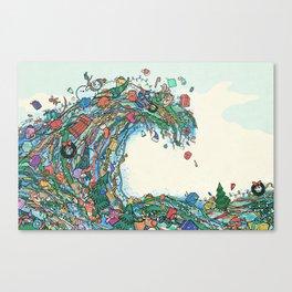 Christmas Tidal Wave Canvas Print