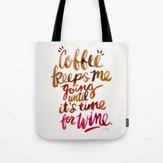 Coffee & Wine – Brown & Magenta Ombré Tote Bag