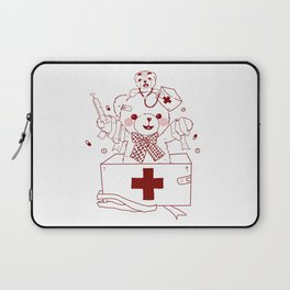 The Adventures of Bear and Baby Bear-Who's hurt? Laptop Sleeve