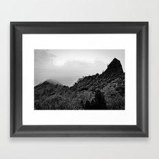 Foggy Peaks Framed Art Print