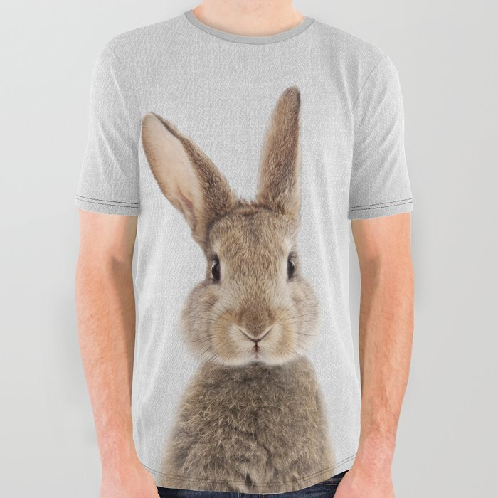 Rabbit Tail - Colorful All Over Graphic Tee
