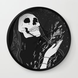 Mugwort Moon Original by Moon Goddess MArket Wall Clock