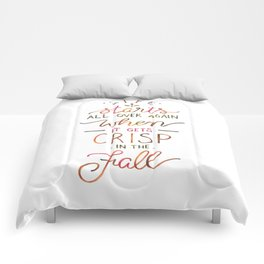 Crisp in the Fall - The Great Gatsby quote Comforters