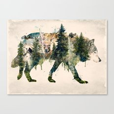 Wolf is the Pride of Nature Canvas Print