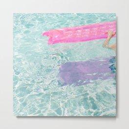 Pool Float Metal Print