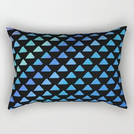 Blue geometric pattern with black background Rectangular Pillow
