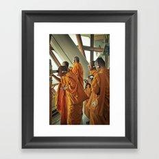 Hi-tech Monks Framed Art Print