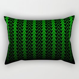 Dark Forest Geometric Rectangular Pillow