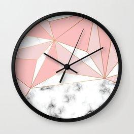 Marble & Geometry 042 Wall Clock