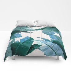 Tropical Palm Print - #4 Comforters