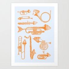 Fish Trumpet Art Print