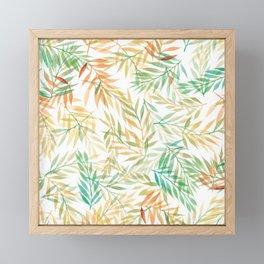 Watercolour Ferns | Mint and Coral Framed Mini Art Print