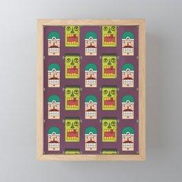 Chasing Viktor Frankenstein (Patterns Please) Framed Mini Art Print