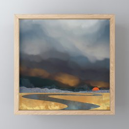 Storm Light Framed Mini Art Print