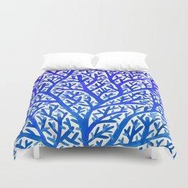 Fan Coral – Blue Ombré Duvet Cover