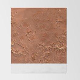 Mars Surface Throw Blanket