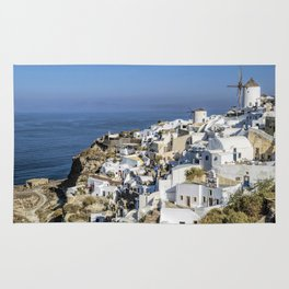 Oia in Santorini, Greece Rug