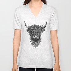 Highland Cattle Unisex V-Neck