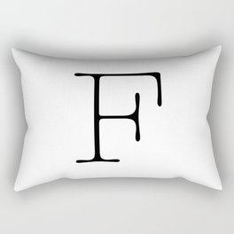Letter F Typewriting Rectangular Pillow