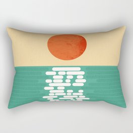 Sun over the sea Rectangular Pillow