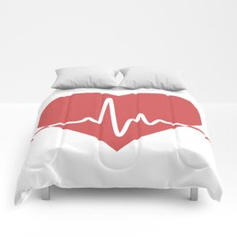 Heart with Cardiogram Comforters