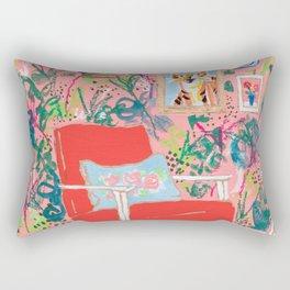 Red Chair Rectangular Pillow